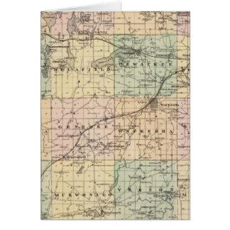 Mapa del condado de Waukesha, estado de Wisconsin Felicitación