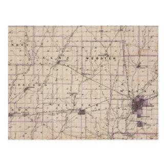 Mapa del condado de Wayne 2 Postal