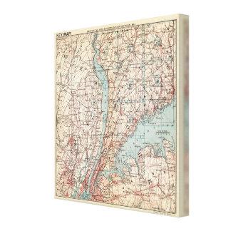 Mapa del condado de Westchester, Nueva York Impresion En Lona