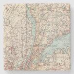 Mapa del condado de Westchester, Nueva York Posavasos De Piedra