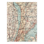 Mapa del condado de Westchester, Nueva York Tarjeta Postal