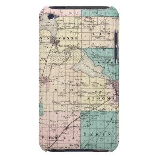 Mapa del condado de Winnebago, estado de Wisconsin iPod Touch Case-Mate Cárcasa