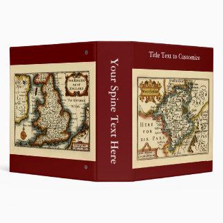 """Mapa del condado de Worcestershire, Inglaterra Carpeta 2"""""""