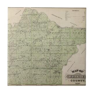 Mapa del condado de Wright, Minnesota Azulejo Cuadrado Pequeño