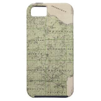 Mapa del condado de Wright, Minnesota Funda Para iPhone SE/5/5s