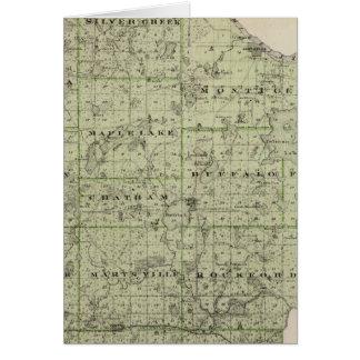 Mapa del condado de Wright, Minnesota Tarjeta De Felicitación