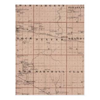 Mapa del condado del cortacéspedes, Minnesota Postal