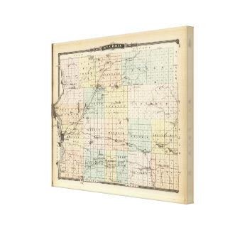 Mapa del condado del St Croix Impresiones En Lona Estiradas