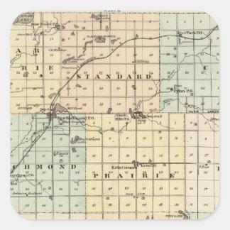 Mapa del condado del St Croix Colcomanias Cuadradases