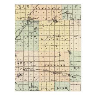 Mapa del condado del St Croix Postal