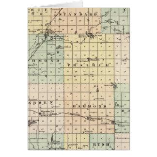 Mapa del condado del St Croix Tarjeta