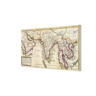 Mapa del continente de los indies del este impresiones en lona