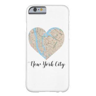 Mapa del corazón de New York City Funda Barely There iPhone 6
