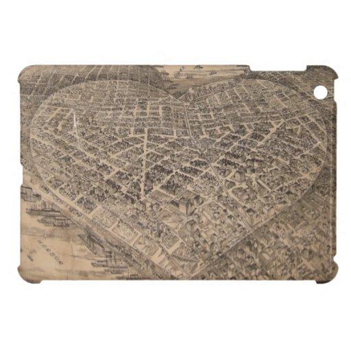 Mapa del corazón de Seattle del vintage (1905) iPad Mini Coberturas