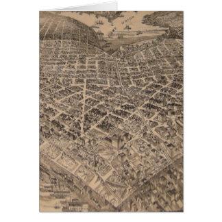Mapa del corazón de Seattle del vintage (1905) Tarjeta De Felicitación