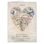 Mapa del corazón de una mujer felicitacion