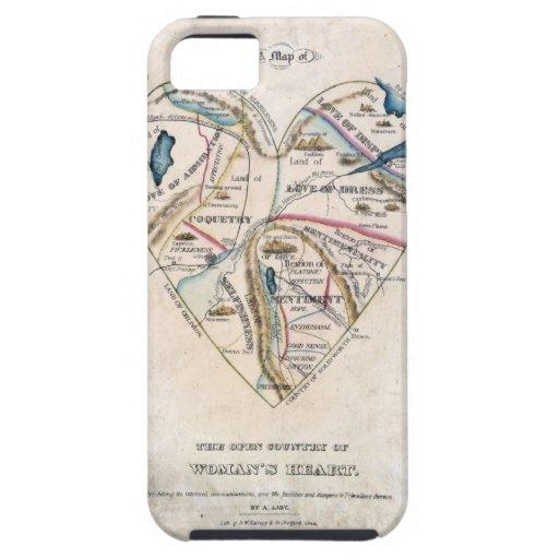 Mapa del corazón de una mujer iPhone 5 Case-Mate coberturas