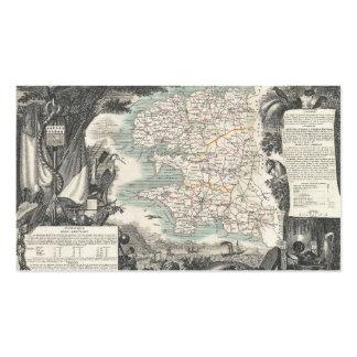 Mapa del departamento francés de Finistere Tarjetas De Visita
