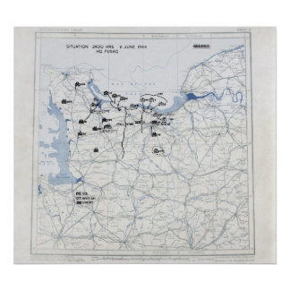 Mapa del día D Impresiones