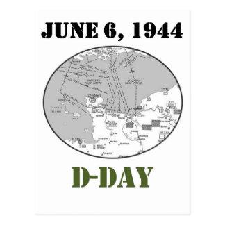 Mapa del día D Postal