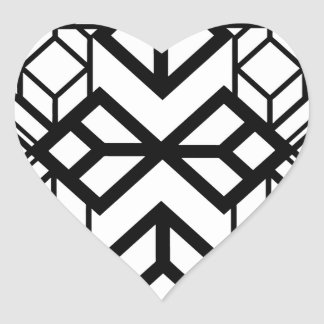 Mapa del diamante pegatina corazón