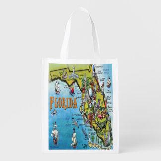 Mapa del dibujo animado de la Florida Bolsas De La Compra