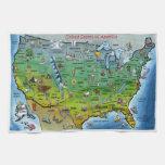 Mapa del dibujo animado de los E.E.U.U. Toalla