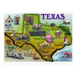 Mapa del dibujo animado de TEJAS