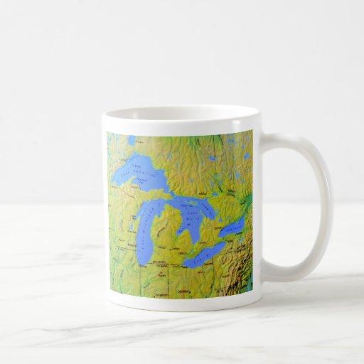 Mapa del diseño de Great Lakes Taza