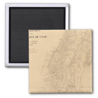 Mapa del distrito de las altas mesetas de Utah Imán Cuadrado