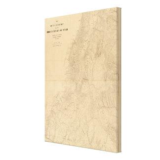 Mapa del distrito de las altas mesetas de Utah Lona Envuelta Para Galerías