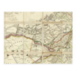 Mapa del distrito de Montreal, Canadá más bajo Tarjetas Postales