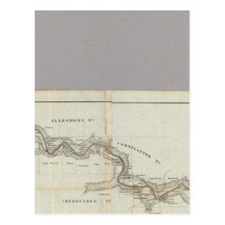 Mapa del distrito Venango del aceite Tarjetas Postales