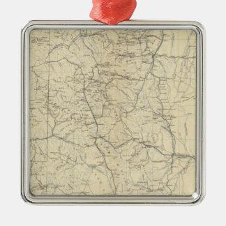 Mapa del drenaje de Colorado Adornos