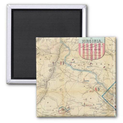 Mapa del ejército de Seat de la guerra en Virginia Iman