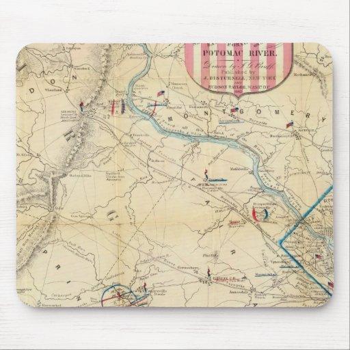Mapa del ejército de Seat de la guerra en Virginia Mouse Pad