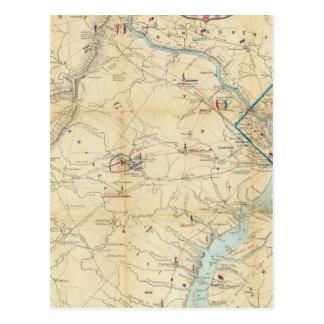 Mapa del ejército de Seat de la guerra en Virginia Postales