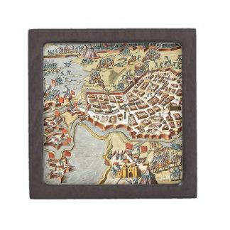 Mapa del enfoque de Op. Sys. de Bergen, Holanda Caja De Joyas De Calidad