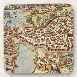 Mapa del enfoque de Op. Sys. de Bergen, Holanda Posavasos De Bebidas