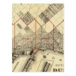 Mapa del esquema de Duluth y de suburbios Postales