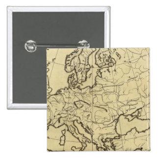 Mapa del esquema de Europa Pins