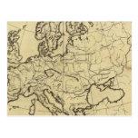 Mapa del esquema de Europa Tarjetas Postales