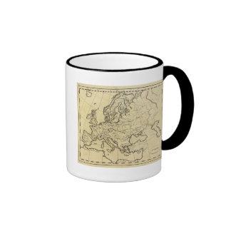 Mapa del esquema de Europa Tazas De Café