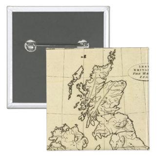 Mapa del esquema de las islas británicas pin cuadrado