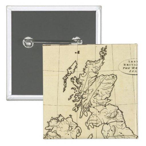 Mapa del esquema de las islas británicas pins