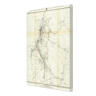 Mapa del esquema del distrito de Washoe Impresión De Lienzo