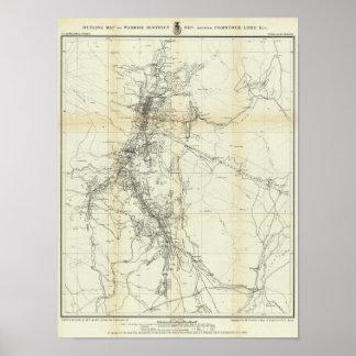 Mapa del esquema del distrito de Washoe Póster