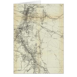 Mapa del esquema del distrito de Washoe Tarjeta De Felicitación