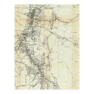 Mapa del esquema del distrito de Washoe Tarjetas Postales