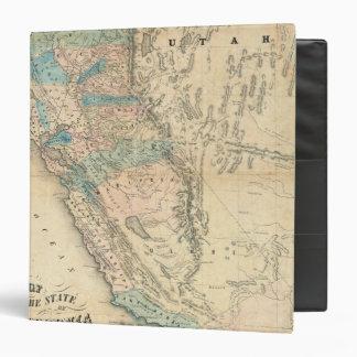 """Mapa del estado de California Carpeta 1 1/2"""""""